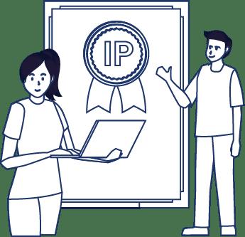 IP Service includes patent, trademark, design patent, copyright